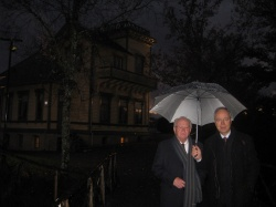 With Prof. Jiri Hlinka in front of Grieg's House